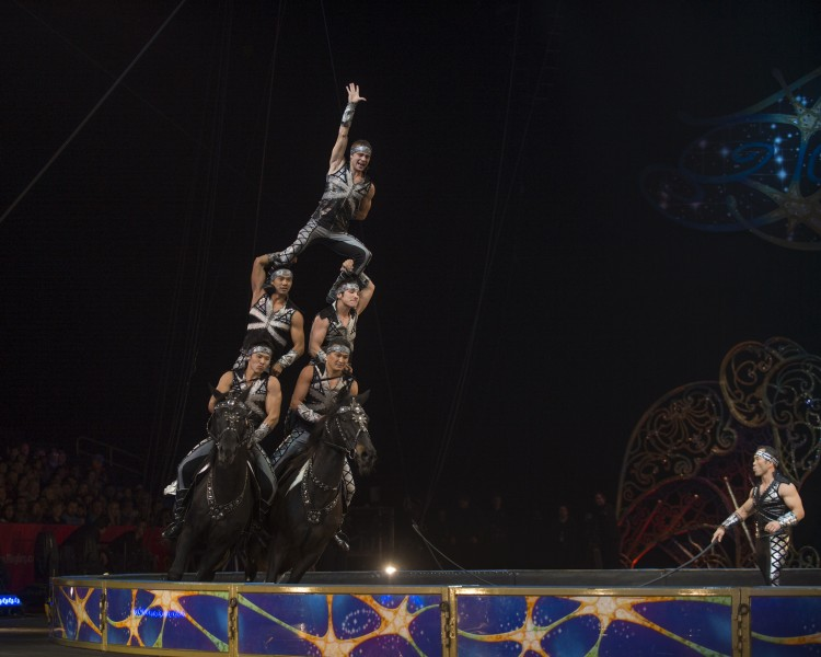 Cossack Riders at the Ringling Bros. and Barnum & Bailey circus. Photo courtesy Feld Entertainment.