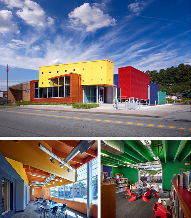The Sharpsburg Public Library. Courtesy AIA Pittsburgh.