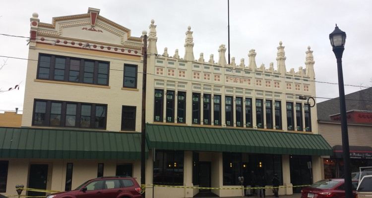 The Free Press buildings on Braddock Avenue in Braddock have been renovated.  Photo by Kim Lyons.
