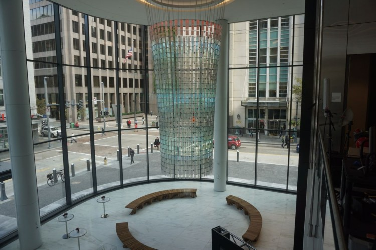 Overlooking the lobby with the Beacon.