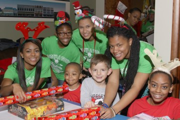Toy drive from last year. Courtesy of the Charlie Batch Foundation.