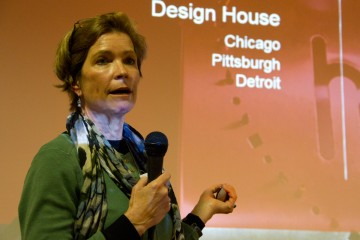 Susan Page Estes, founder of Design House, speaks at Design Jam on Nov. 12