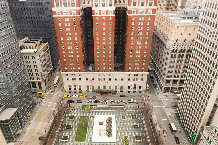 Oliver Building view of Mellon Square from Embassy Suites