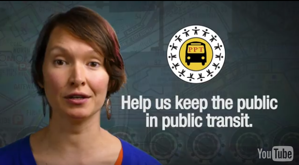 Screenshot from Pittsburghers for Public Transit Indiegogo video.