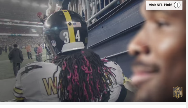 DeAngelo Williams from an NFL video on breast cancer.