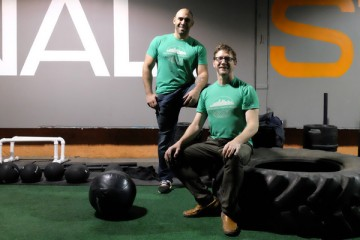 Tom Duer, left, and Brian Clista, co-owners of the Pittsburgh Fitness Project. Photo by Brian Cohen.