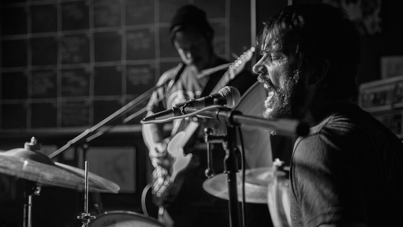 Canadian metal band Indian Handcrafts performs at Black Forge Coffee. Photo by Buzzy Torek.