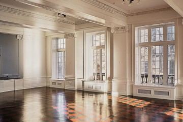 The ballroom at the Ace Hotel Pittsburgh. Photo courtesy of the Wall Street Journal.