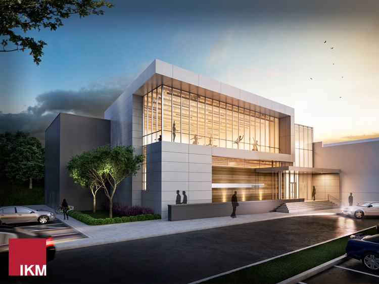 Rendering of the Pittsburgh Ballet Theatre's new annex. Photo courtesy PBT/IKM architects.