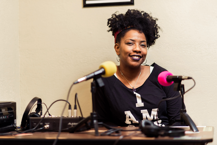 Kahmeela Adams, of the Rugged Angel and other podcasts. Photo by Rob Larson.