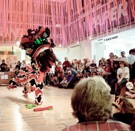 Lion dance celebrating Chinese New Year. Photo: Children's Museum of Pittsburgh.