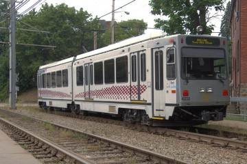 Red Line train travels through Beechview.