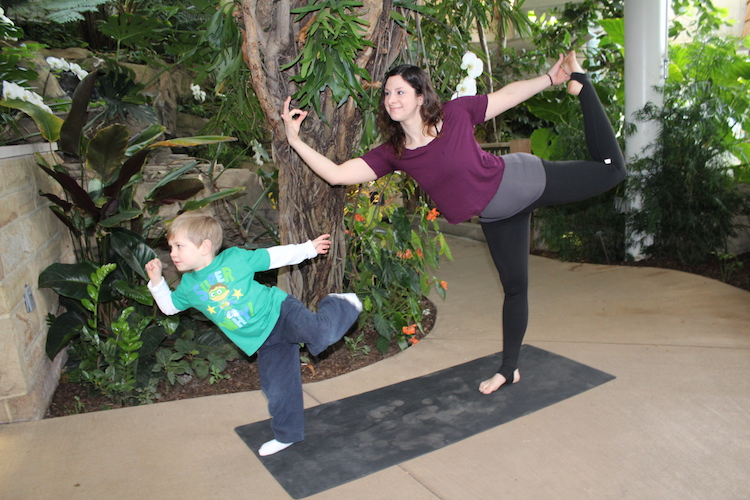 Yoga at Phipps Conservatory on Earth Day