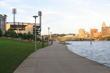Pittsburgh's North Shore.  Photo by CC Barr/Wikimedia Commons