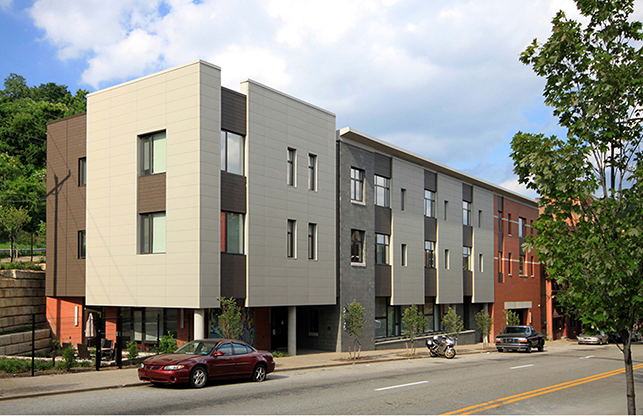 FortyEighty Architecture won an AIA Pittsburgh Design Award for this Action Housing project.