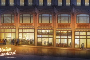 An artist's rendering of the upcoming Union Standard restaurant.