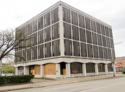The former AAA Headquarters also known as the Detective building in East Liberty, Photo by Maya Henry.