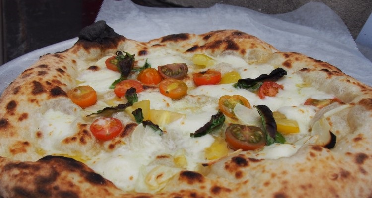 Pizza from Driftwood oven.
