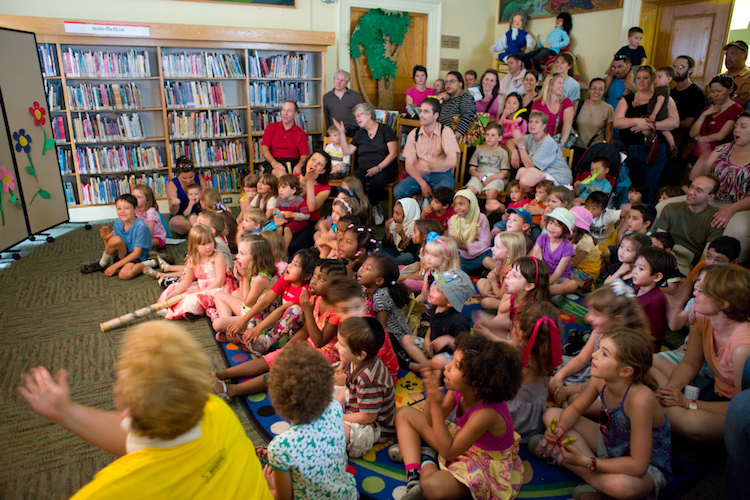 Activities draw big crowds at the Carnegie Library. Image courtesy of Carnegie Library.
