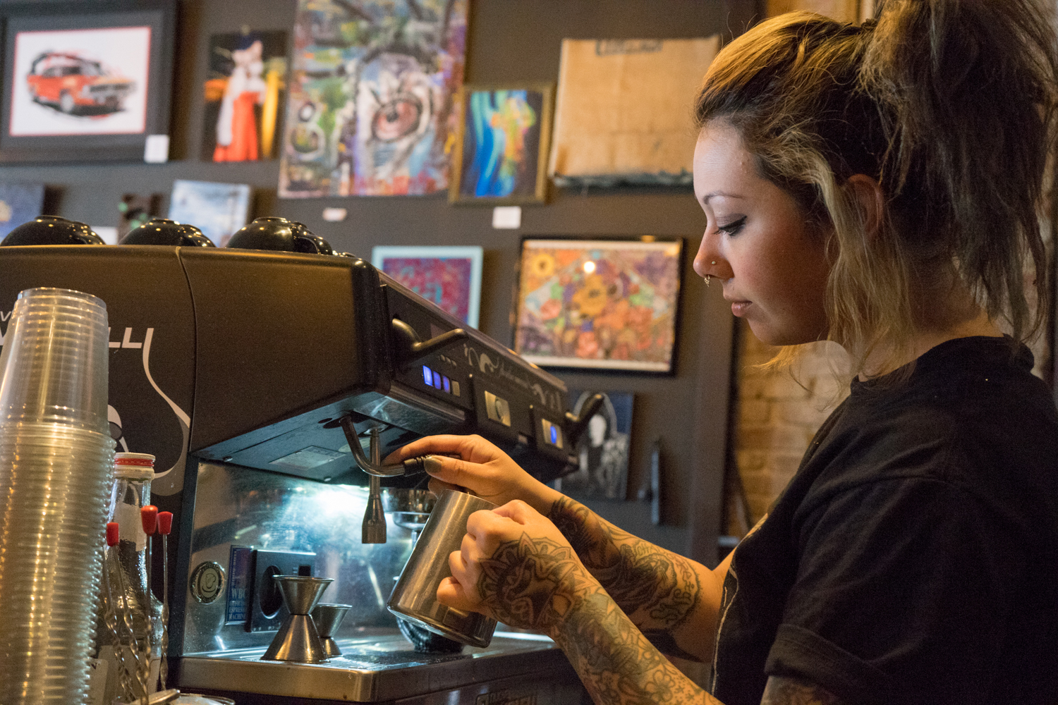 Ashley Corts of Black Forge Coffee. Brian Conway photo.