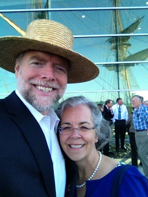 Andy and his wife Debbie aboard the Flagship Niagara.