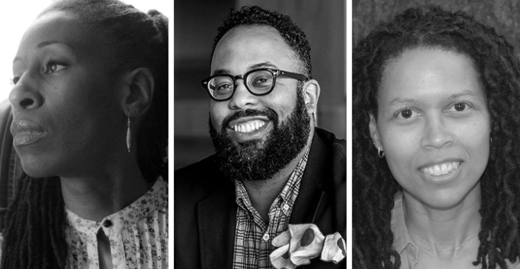 Lyrae Van Clief-Stefanon, Kevin Young and Evie Shockley.