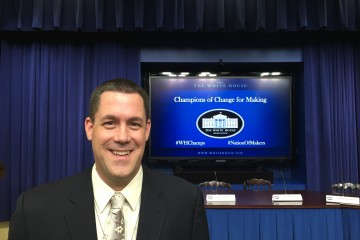 Gregg Behr, Champion of Change, at the White House last Friday.