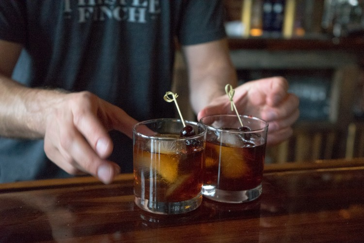 Old Fashioneds at The Summit. BC photo.