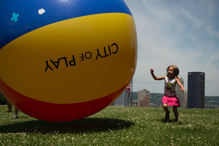 City of Play had a ball. Photo by Rob Larson.