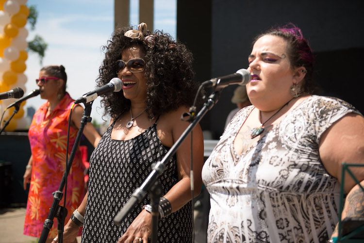 Phat Man Dee and others performed Saturday at Grandview Park. Rob Larson photo