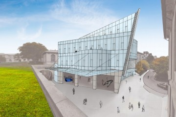 Conceptual sketch for the ANSYS building at CMU.