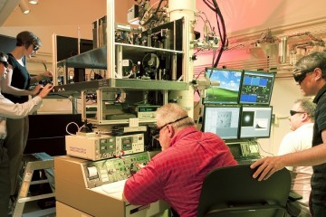 The dynamic transmission electron microscope. Image courtesy of Lawrence Livermore National Laboratory.