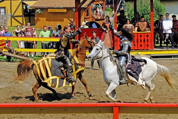 Jousting at the Pittsburgh Renaissance Festival. Image courtesy of the Pittsburgh Renaissance Festival.