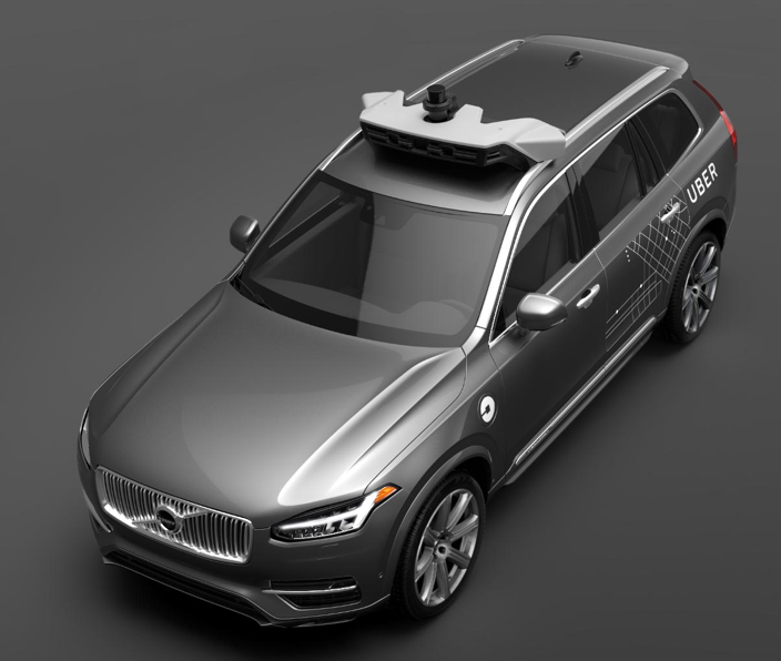Volvo is expected to deliver 100 specially modified SUVs to Uber by the end of the year. Courtesy Uber.