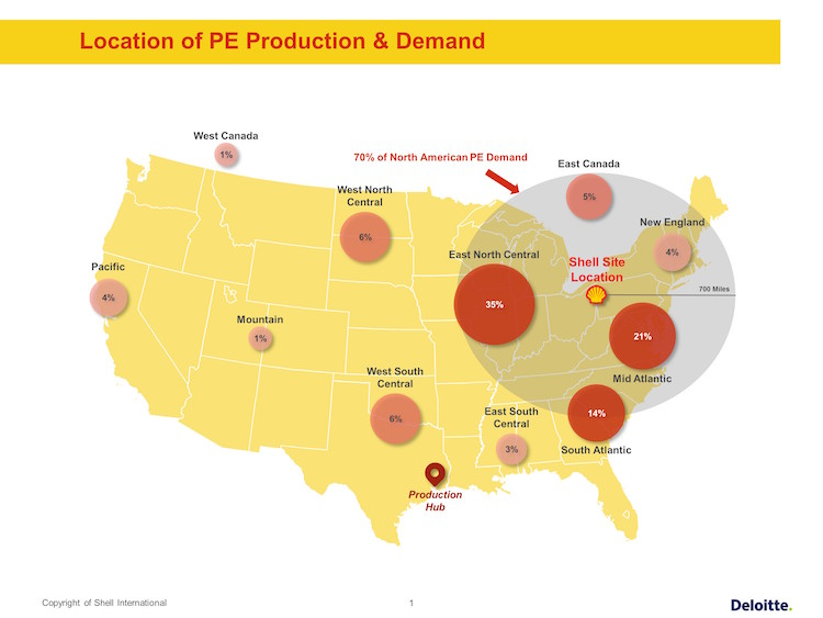 Shell FID Pennsylvania Petrochemicals Complex_Site location & Polyethylene Supply and Demand
