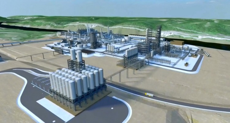 The Shell cracker plant rendering for Beaver County location