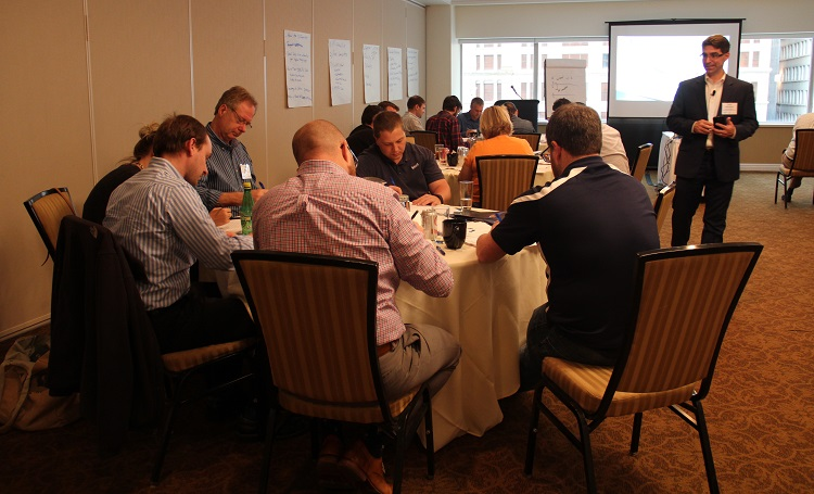 IEE workshop with regional business owners. Image courtesy of Catalyst Connection.