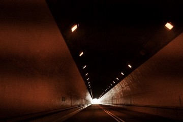 Lightime artist Bradford Young tunnels through Pittsburgh. Image courtesy of CMOA.
