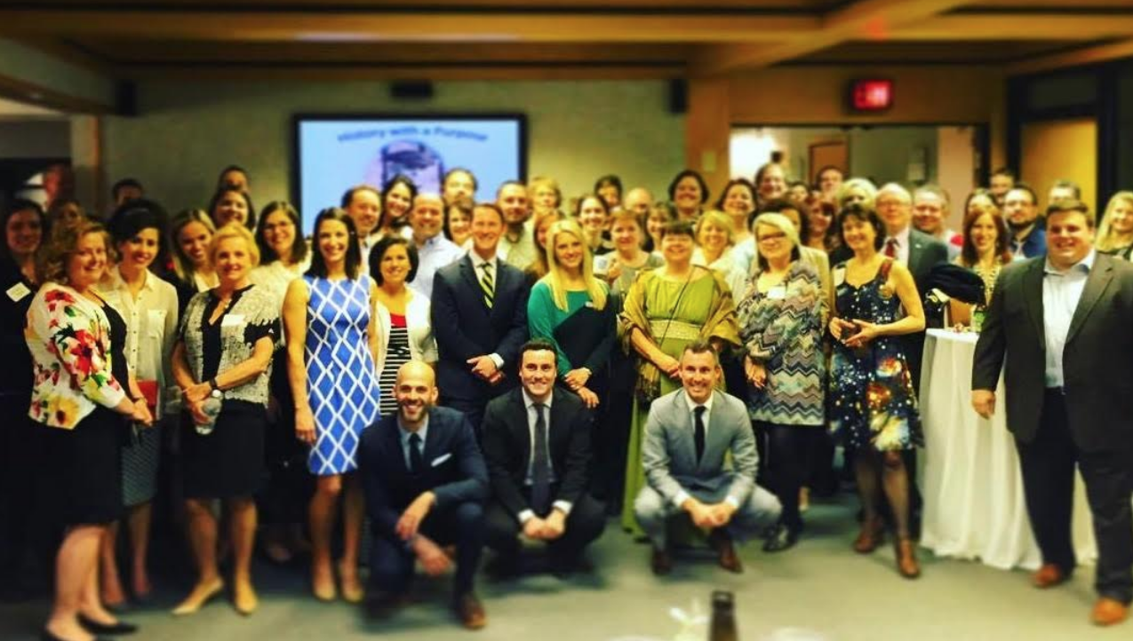 The Visionaries of Westmoreland County at the 4th annual V-Grant Pitch Party in 2016.