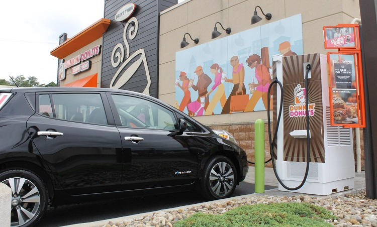 Dunkin Donuts Helps Pittsburgh Electric Car Owners