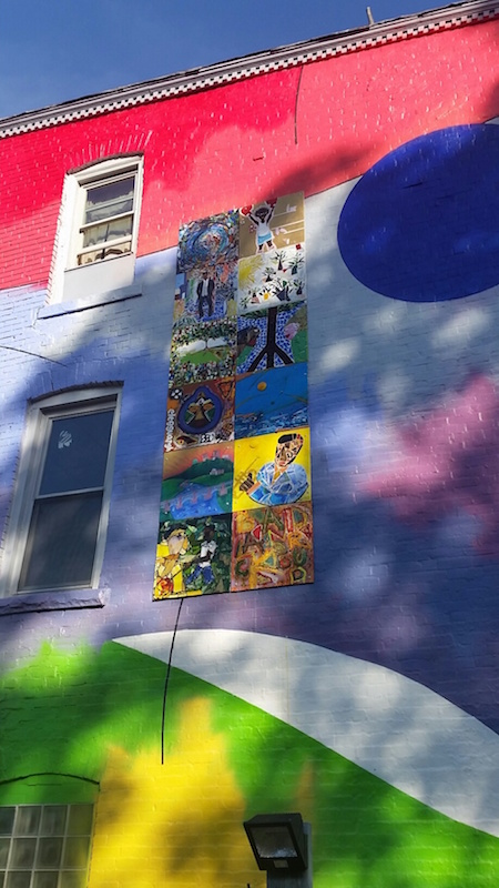 Eleven local artists contributed panels for the new mural by Therman Statom.