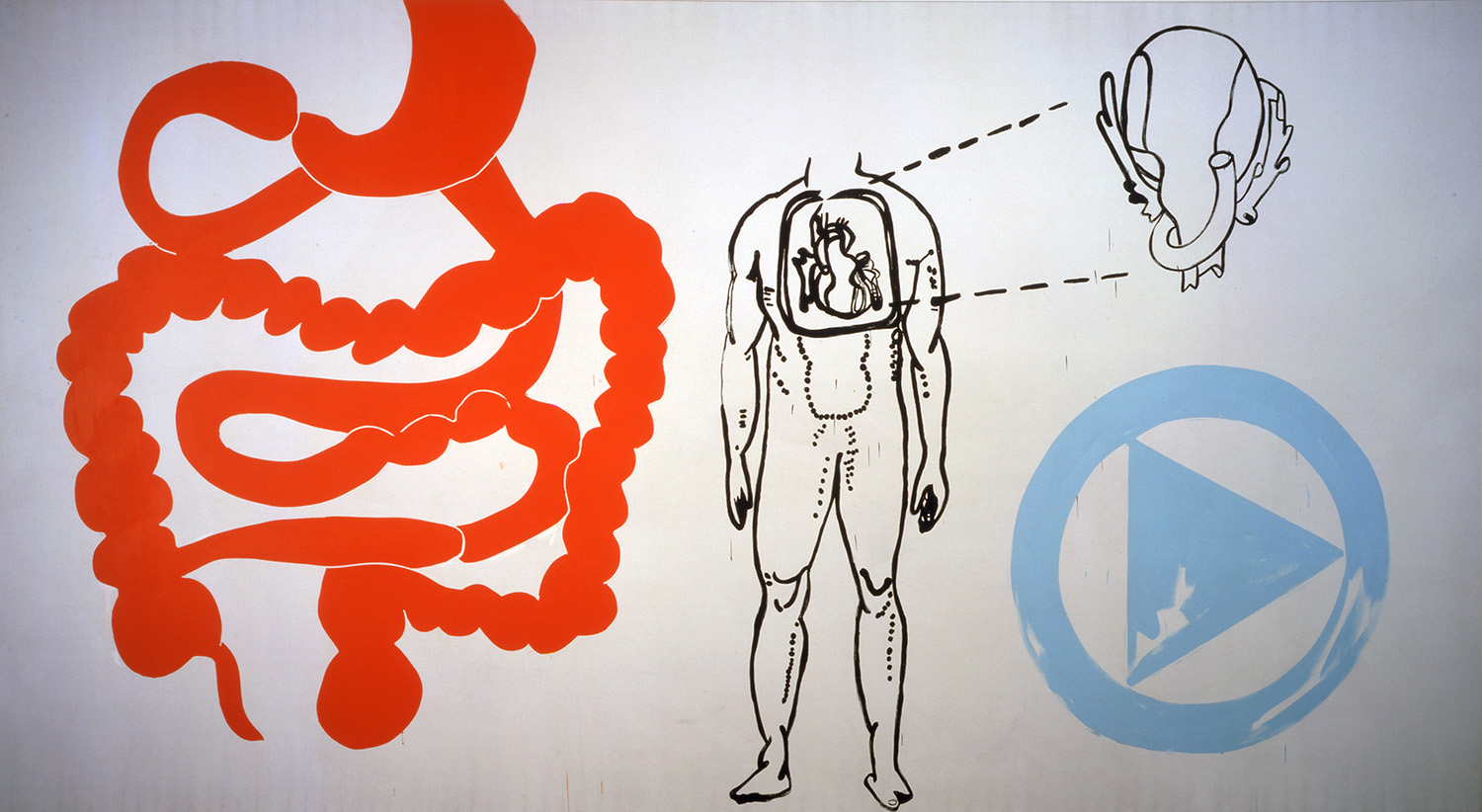 Andy Warhol, Physiological Diagram, 1985. © The Andy Warhol Foundation for the Visual Arts, Inc.