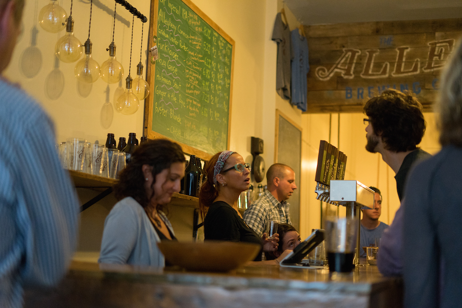 Part owner Amy Grosso at Allegheny City Brewing. Brian Conway photo.