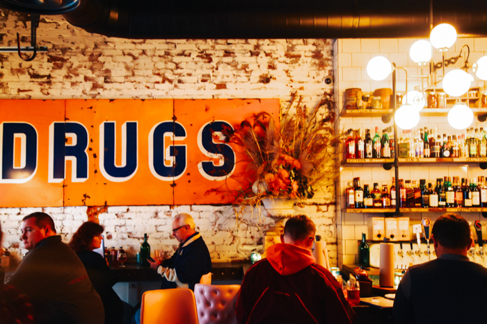 The interior of Pork & Beans has a fun, funky vibe. Photo by Tom O'Connor.