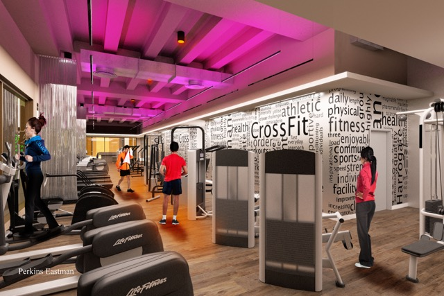 Union Fitness rendering. Image courtesy of Perkins Eastman.