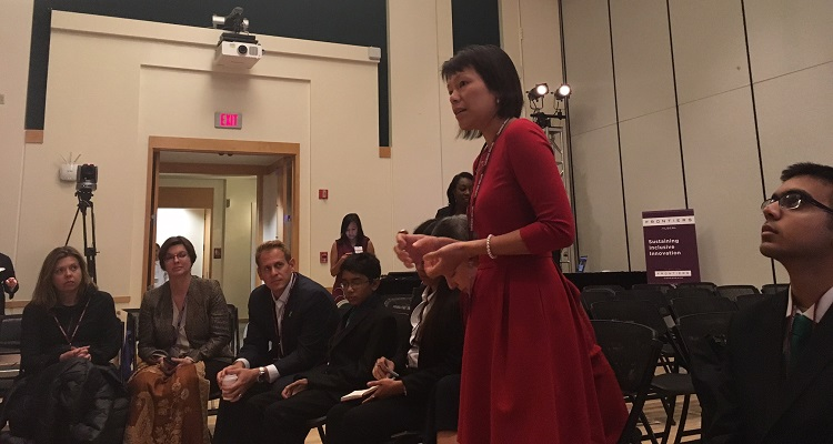 Chief of Innovation and Performance Debra Lam at the White House Frontiers Conference. Photo by Amanda Waltz.