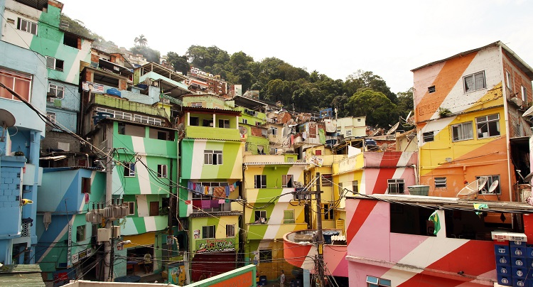 Favela Painting Project in Rio de Janeiro. Image courtesy of Within Formal Cities.