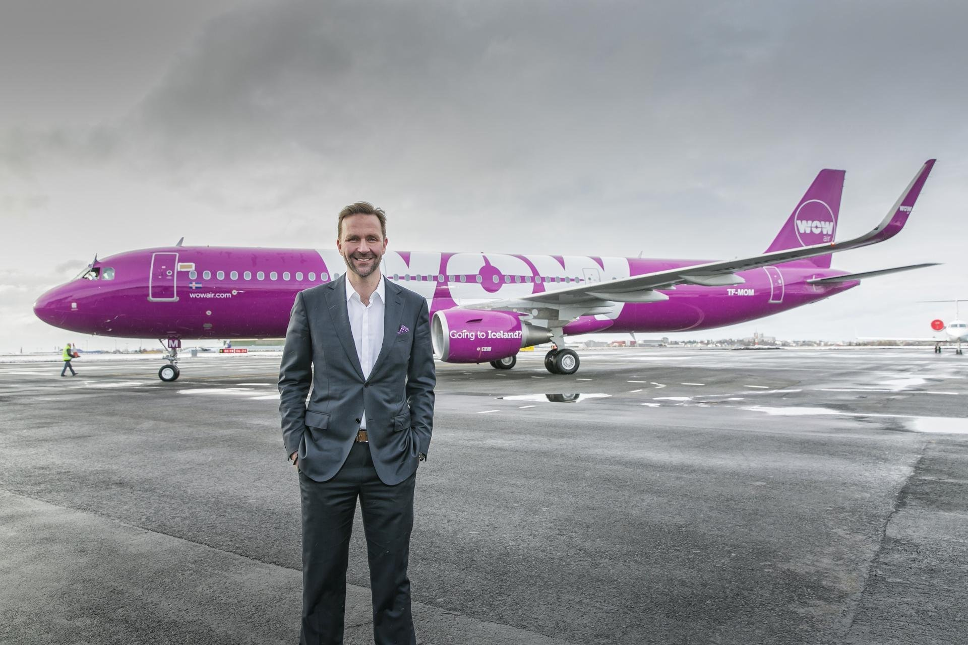 Skúli Mogensen, founder and CEO of WOW air. Image courtesy of WOW air.