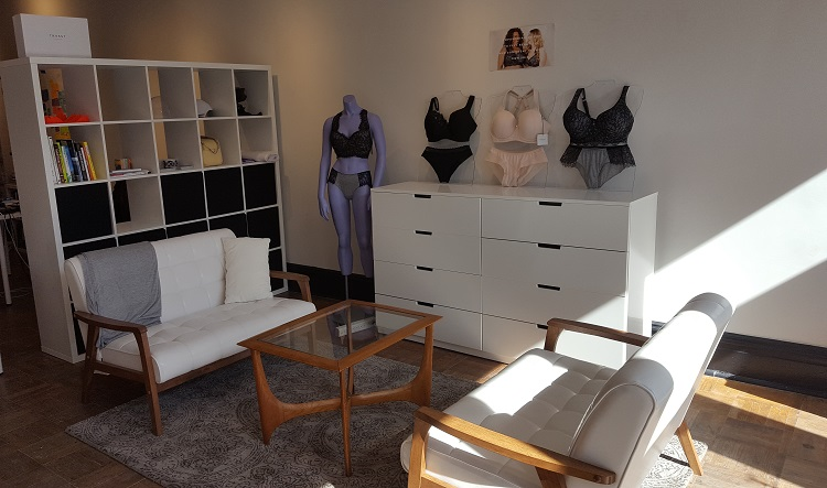 Trusst Lingerie showroom in Garfield. Image courtesy of Trusst.