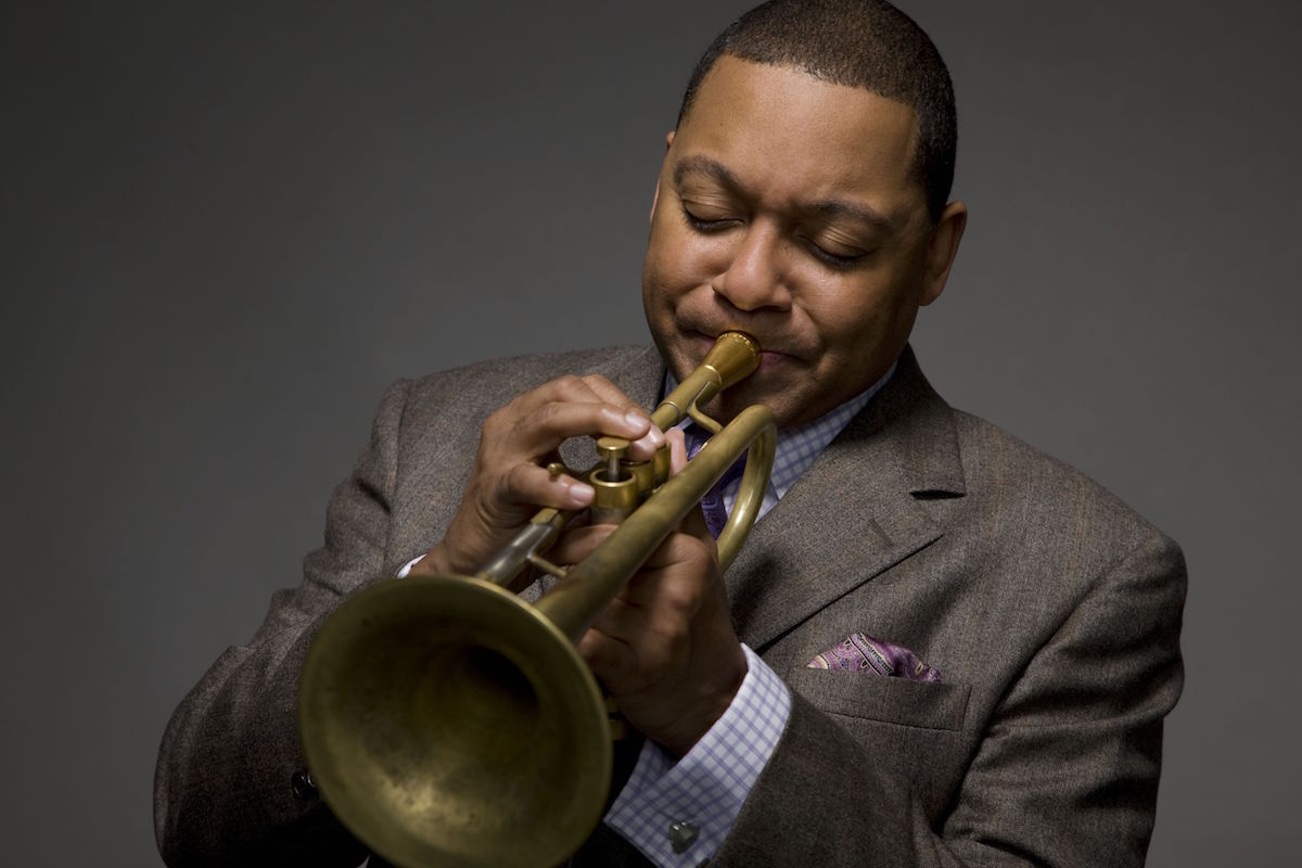 Photo of Wynton Marsalis by Joshua Franzen.